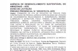 Aviso de Licitação – Pregão Presencial N.º 005/2019-CIL-ADS