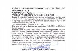 Aviso de Licitação Pregão Presencial n. 006/2019 CIL-ADS