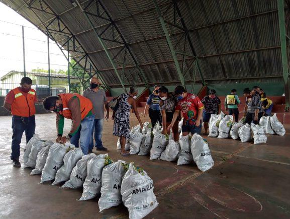 Cerca de 135 famílias foram beneficiadas em ação emergencial em Presidente Figueiredo, por meio da ADS
